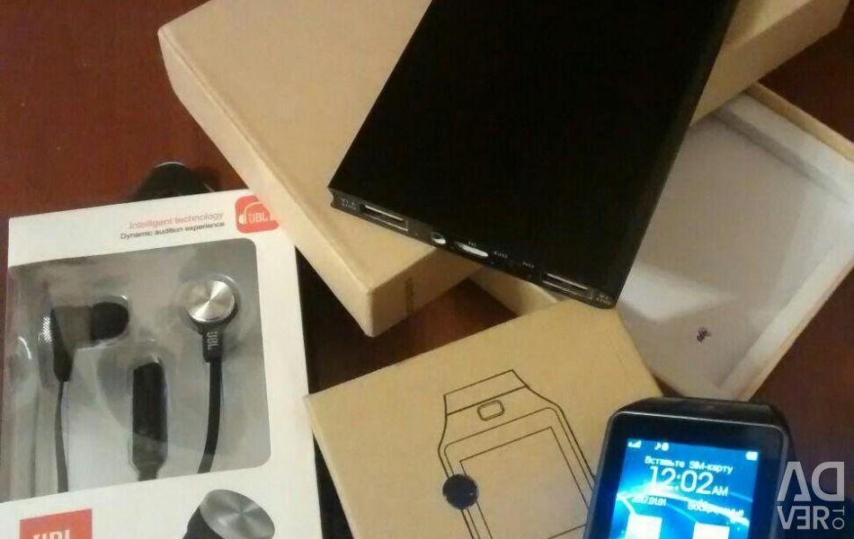 Ορισμός: dz09 smart watch + powerbank mi + ακουστικά