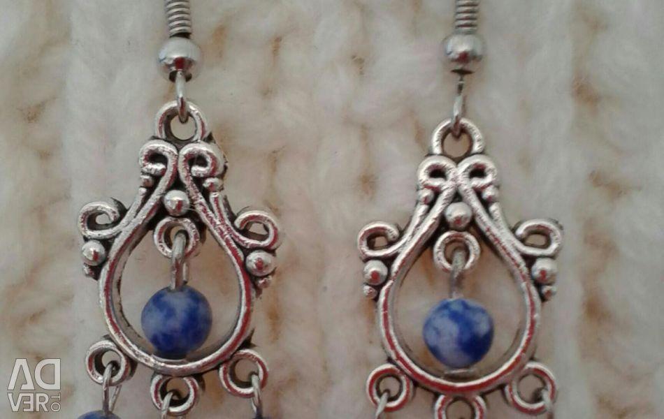 Σκουλαρίκια με φυσικές πέτρες