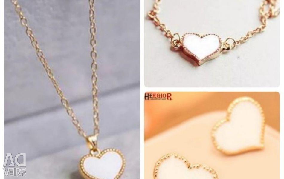 Set de inimi albe