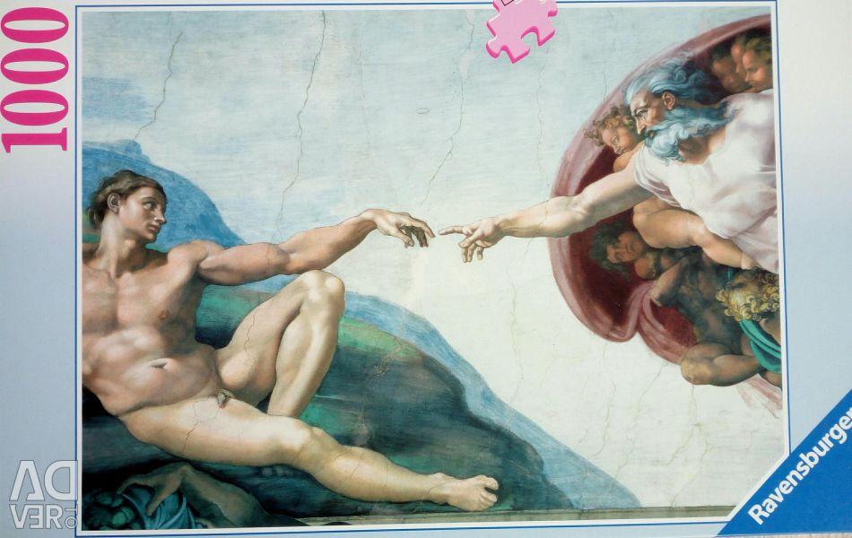 Puzzles1000el Δημιουργία του Αδάμ