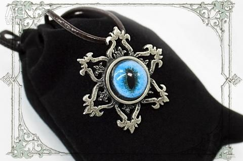 Pendant Slavic star with the eye of the Siamese cat