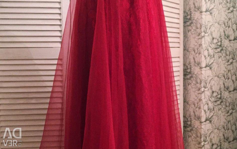 Luxurious Marsala Dress