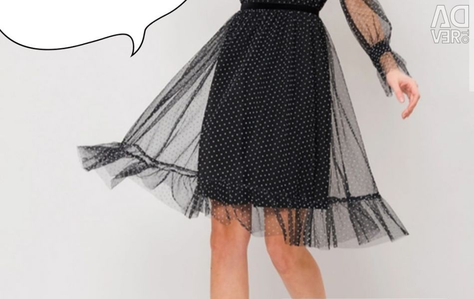 Dress with mesh