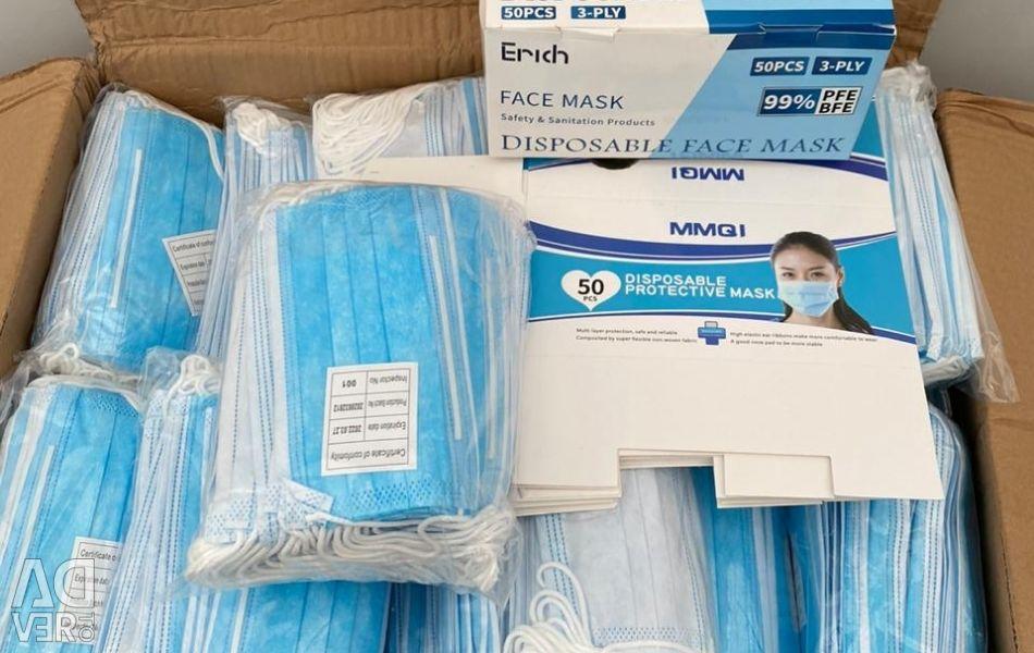 Three-layer medical masks