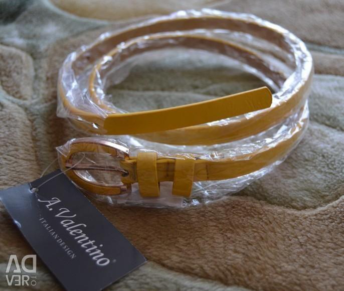 Belt yellow A.Valentino