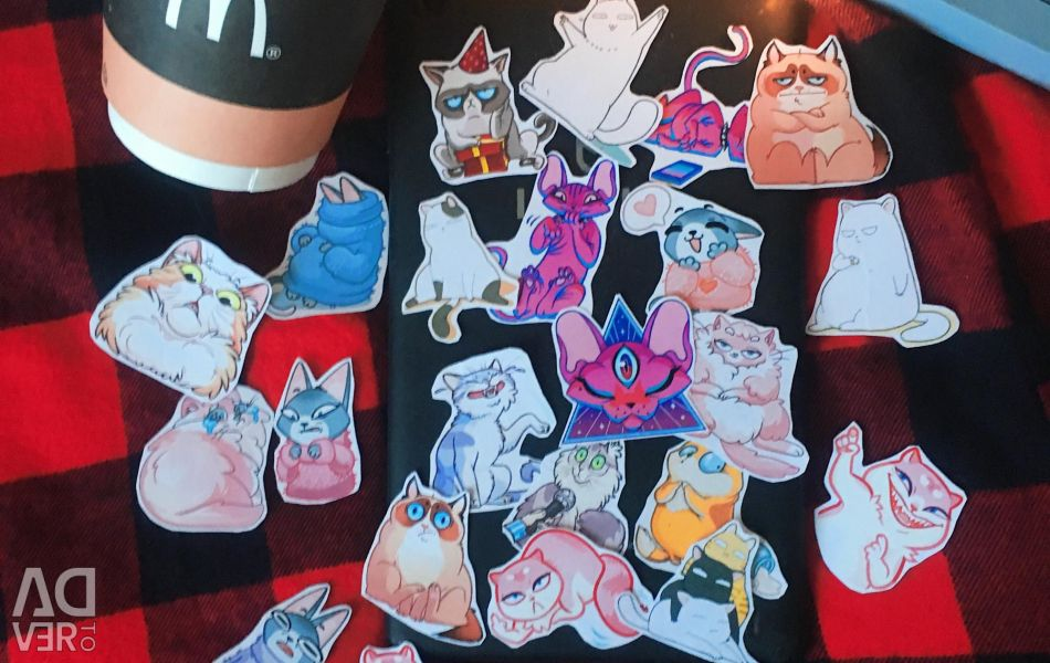 Stickers with cats