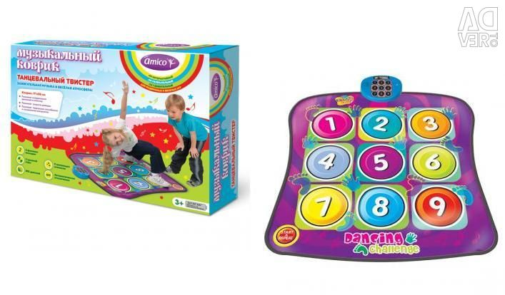 Musical touch rug twister