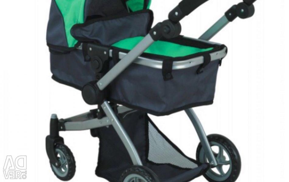 Bebekler için bebek arabası. Trafo. Oturma ve yalan
