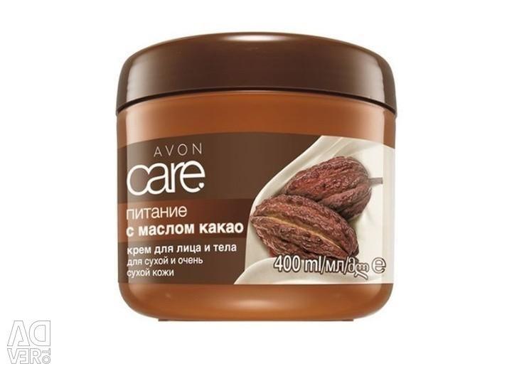 Kakao yağı ve E vitamini ile yüz ve vücut kremi