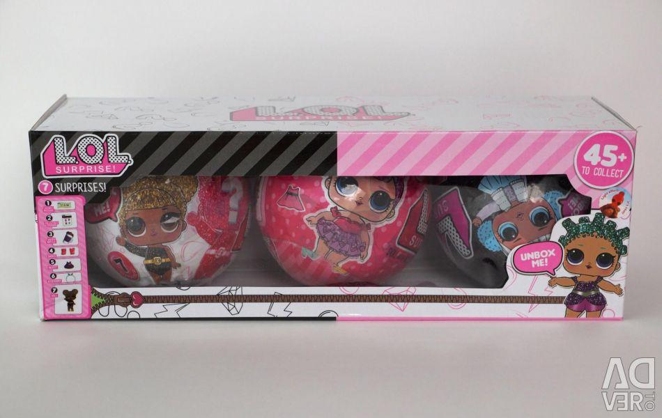 Σετ κούκλες LOL 3 μπάλες