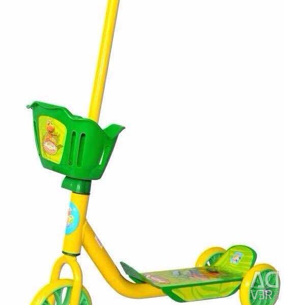 Children's three-wheeled scooter