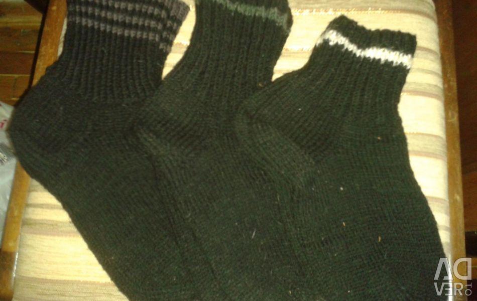 Тeплие шкарпетки вовняні в'язані великих розмірів