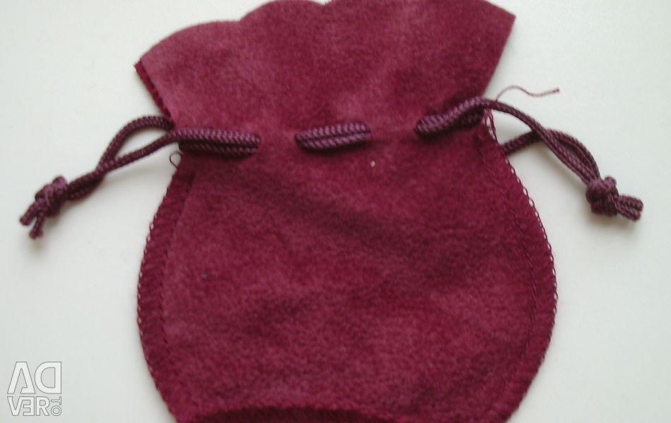 Подарочный мешочек для украшений бордовый