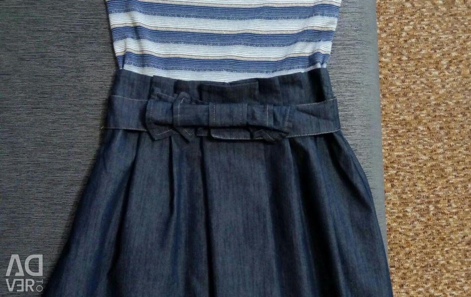 Платье (юбка-джинс)