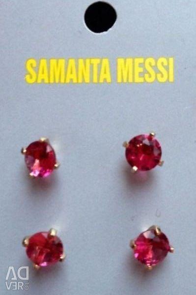 Earrings - carnations