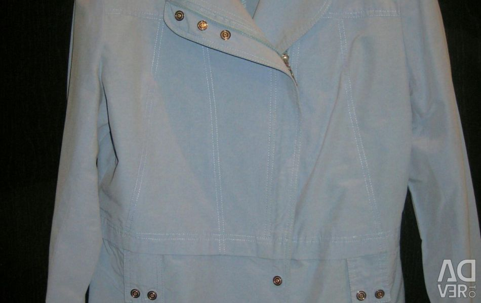 Cotton jacket summer blue