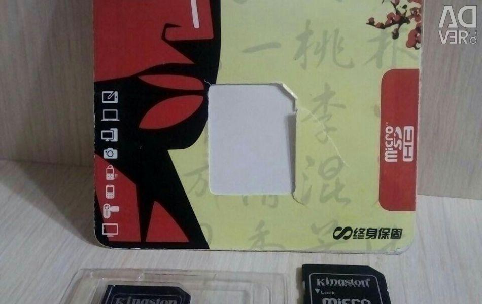 2 pcs. Memory cards kingston 64 gb