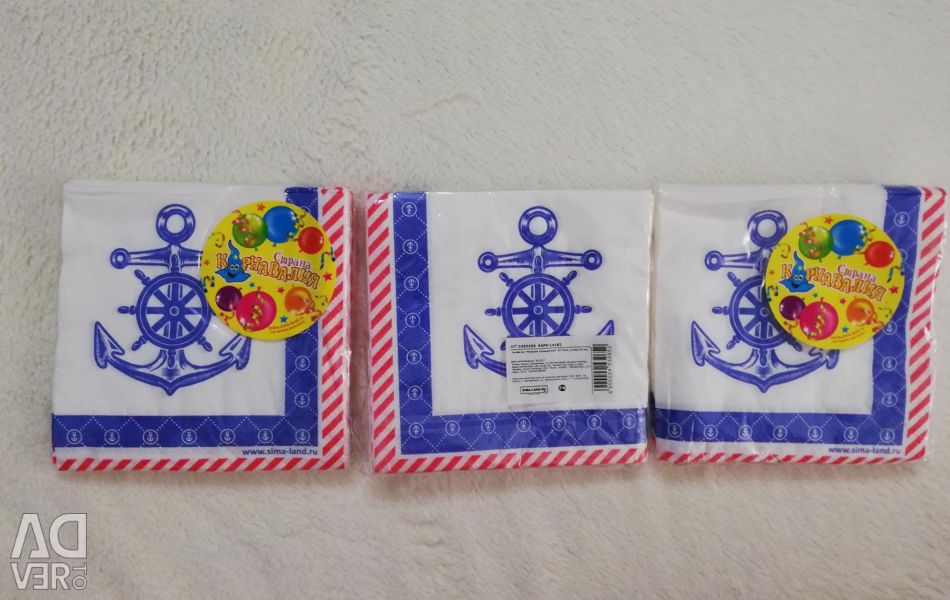 Napkins in a marine style!