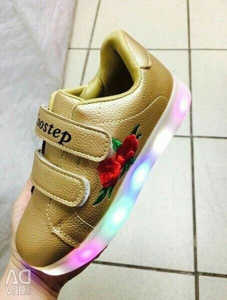Glowing sneakers